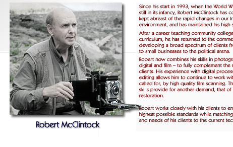 Robert McClintock with vintage Crown Graphic